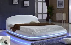 Led Bed Frame Marquee Led Light Leather Bed