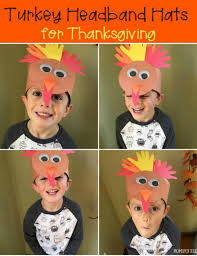 turkey headband turkey handprint headband hat craft for thanksgiving spotted