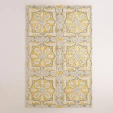 Tile Area Rug Tile Tufted Yellow And Gray Wool Area Rug