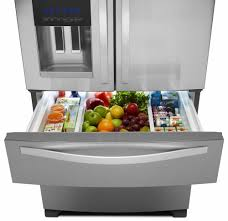 Refrigerator With French Doors And Bottom Freezer - whirlpool wrx735sdbm 36 inch 4 door french door refrigerator with