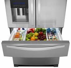 French Door Refrigerator Without Water Dispenser - whirlpool wrx735sdbm 36 inch 4 door french door refrigerator with