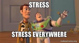 Toy Story Everywhere Meme - stress stress everywhere buzz and woody stress meme make a meme