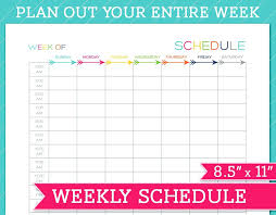 printable hourly planner 2016 weekly schedule template free printable weekly planner weekly