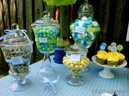 baby shower table centerpieces blue yellow baby shower pizzazzerie
