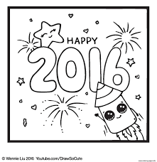happy new year draw so cute coloring pages printable