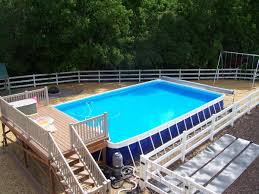 grey round houston above ground pools that can be decor with