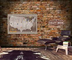 Wall Map Of Usa by Magnetic Beer Cap Map Of Usa Craft Beer Bottle Cap Holder