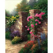 colorful flower gardens gazebo of prayer u2013 limited edition art the thomas kinkade company