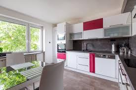 kitchen with raspberry accent barbora grünwaldov á