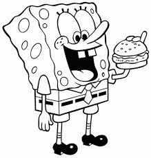coloring pages for kids spongebob krabby patty cartoon coloring