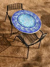 Mosaic Patio Table Top by How To Make Your Own Mosaic Table Sure Looks Like A Craft That I