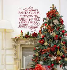 we believe in santa christmas decorations wall decals by santa