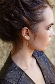 ear piercing hoop 25 awesome helix piercing jewelry inspirations