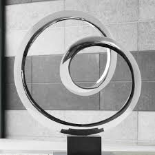indoor contemporary statue orbital metal sculpture buy now at