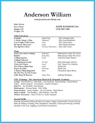 sample actor resume beginner acting resume sample beginner acting
