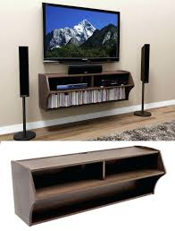 shelves wall tv shelf wood 48 altus floating wall mounted