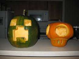 minecraft and nintendo pumpkin carving pumpkin carving and