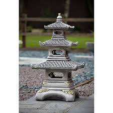 three tier japanese pagoda garden ornaments