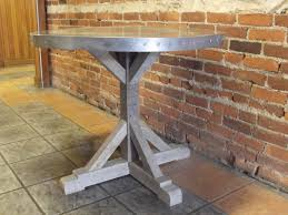 Zinc Bistro Table Zinc Table Top Metaltoppedtables