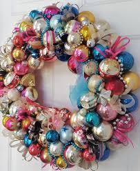 24 truly vintage antique glass ornament wreath glass
