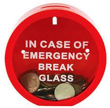 money box emergency money box in of emergency glass novelty
