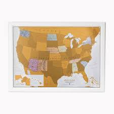 Picture Of A Blank Map Of The United States by Amazon Com Scratch Usa Scratch Off Places You Travel America
