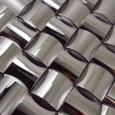 metallic tiles backsplash silver metal mosaic wall tiles backsplash smmt068 stainless steel