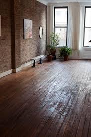 exposed brick hardwood floors white walls skirting boards dream