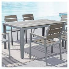 Outdoor Dining Room Furniture Gallant Rectangular Outdoor Dining Table Sun Bleached Gray