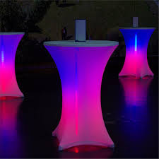 Led Reception Desk Color Changing Led Table Super Power Lights Co Ltd
