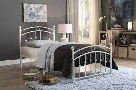 homelegance lia metal platform bed white 2048tw 1