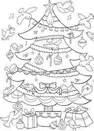 christmas tree colouring christmas lights decoration