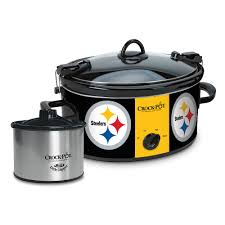 Steelers Bedding Pot Cook U0026 Carry Pittsburgh Steelers 6 Quart Slow Cooker Set
