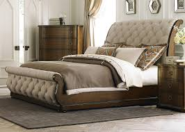 liberty furniture cotswold tufted linen upholstered sleigh bed 545