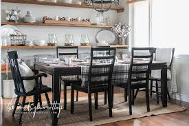 Black Dining Room Table And Chairs by Black Dining Room Chairs Makeover The Wood Grain Cottage