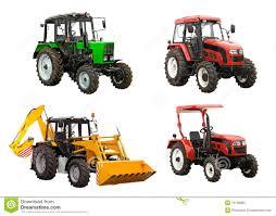 tractors and bulldozer excavator over white stock photos image