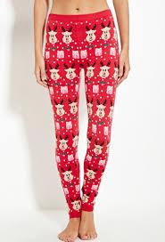 red patterned leggings lyst forever 21 reindeer patterned leggings you ve been added to