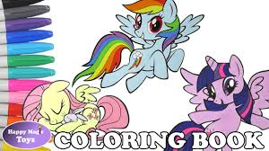 mlp coloring book pages compilation dash fluttershy twilight my