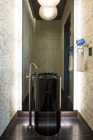 Modern Pedestal Sinks Modern Pedestal Sink Bathroom Contemporary With Black Walls