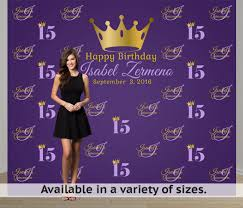custom photo backdrop quinceanera step and repeat personalized photo backdrop sweet 16