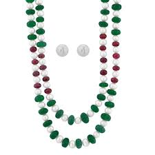 emerald pearl necklace images Buy jpearls ruby emerald pearl necklace online best prices in jpg