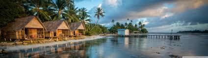 bungalows on the reef french polynesia hd desktop wallpaper
