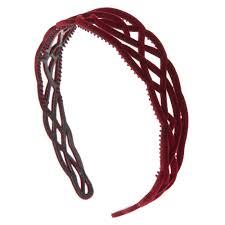 burgundy headband burgundy filigree velvet headband s us
