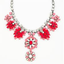 red necklace statement images Red ginger bib crystal stone mix statement necklace by jpg