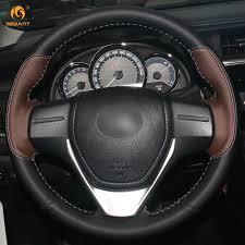 toyota rav4 steering wheel cover aliexpress com buy black coffee genuine leather car steering