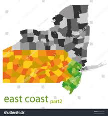 Map Of Usa East Coast by Usa East Coast Vector Map Stock Vector 71431732 Shutterstock
