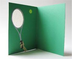 tennis anyone cool cut out on raquet great thank you card for