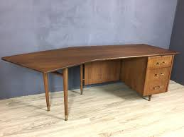 mid century modern walnut boomerang desk retrocraft design