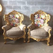 Bergere Home Interiors Baroque Throne Chair Bergere Antique Furniture Italian Refinish