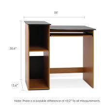 Desk Measurements Amazon Com Furinno 99914r1lc Bk Econ Multipurpose Computer